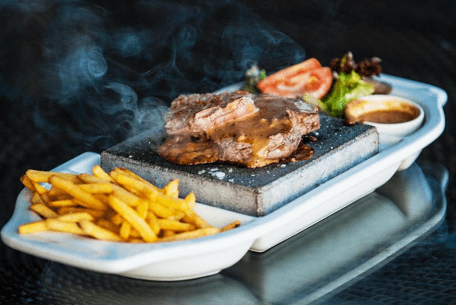 Tigers Eye Restaurant Hot Rock Steak