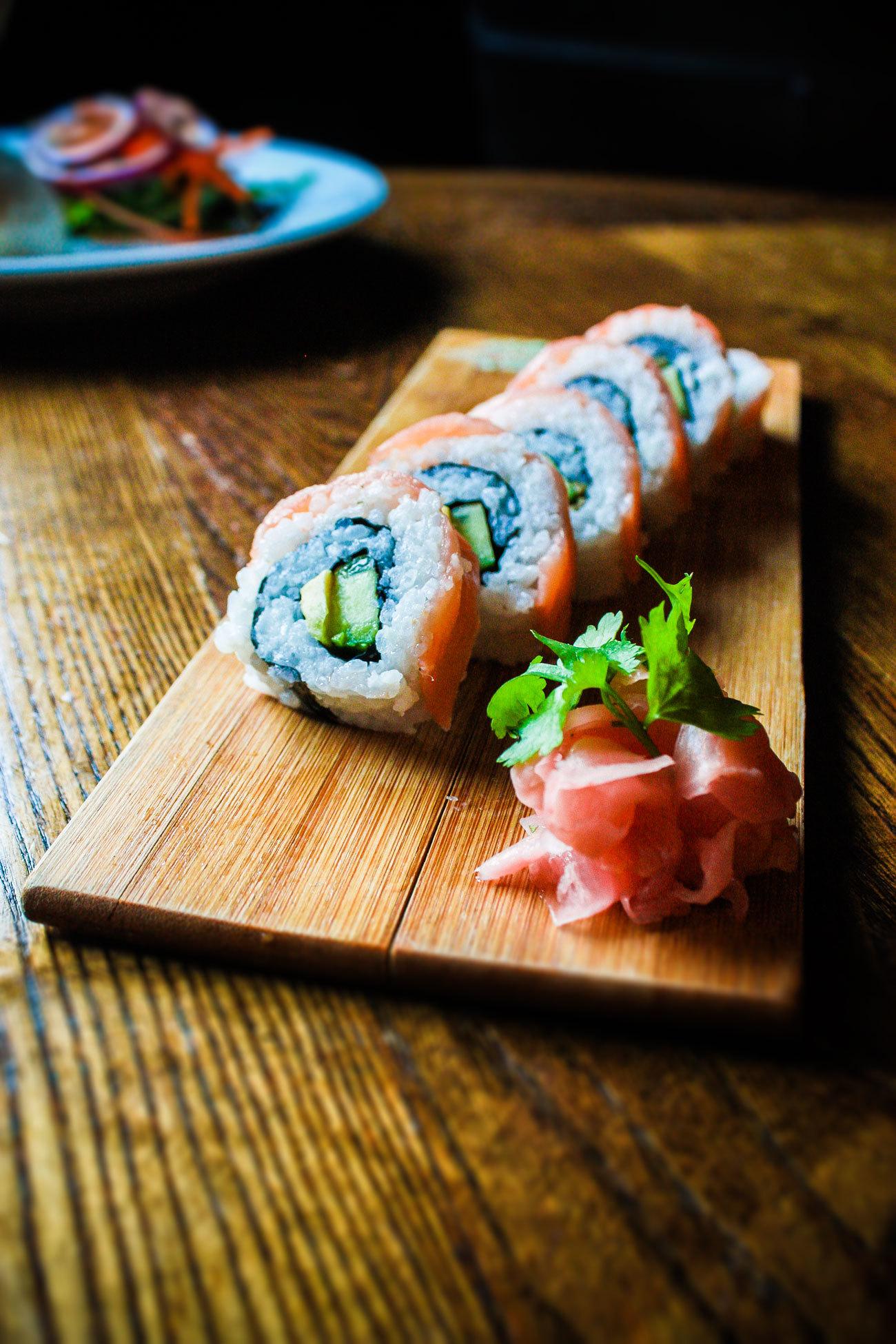 Tigers Eye Restaurant Rolled Sushi